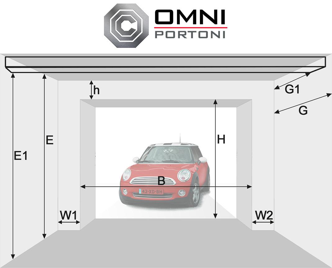 Larghezza porta garage - Dimensioni porta ...